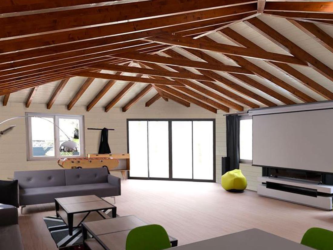 Caseta de madera habitable 72m2 Caseta Living