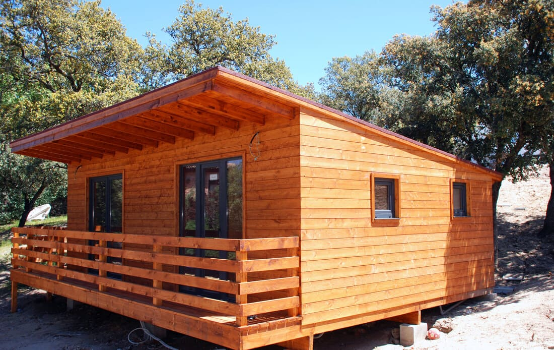 Caseta madera habitable Madrid 43m2 Caseta Living