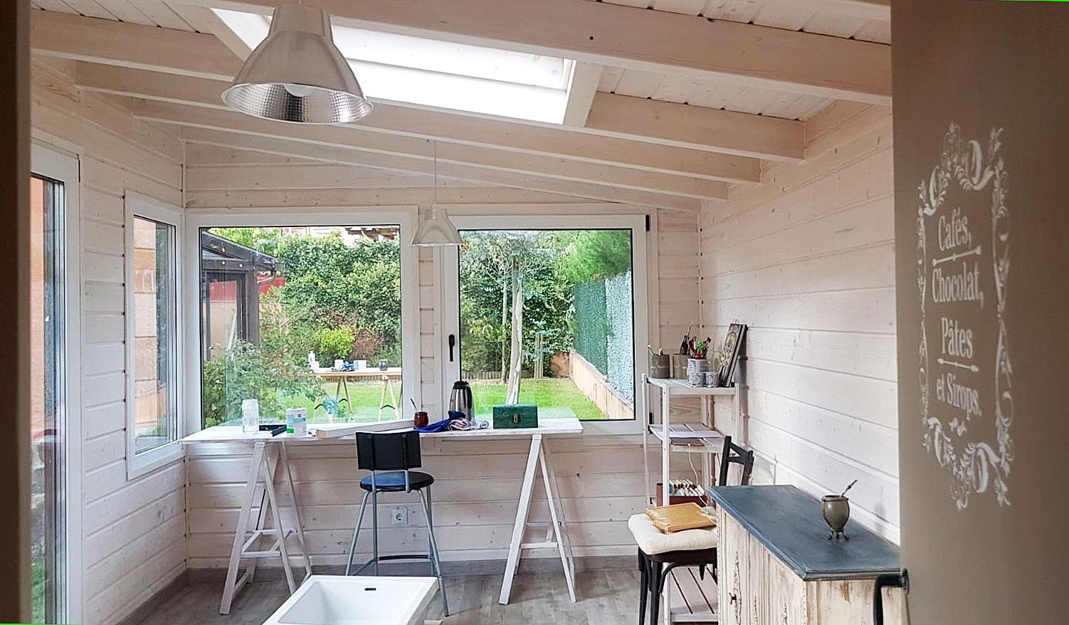 Interior Casetas de madera habitables Caseta Living