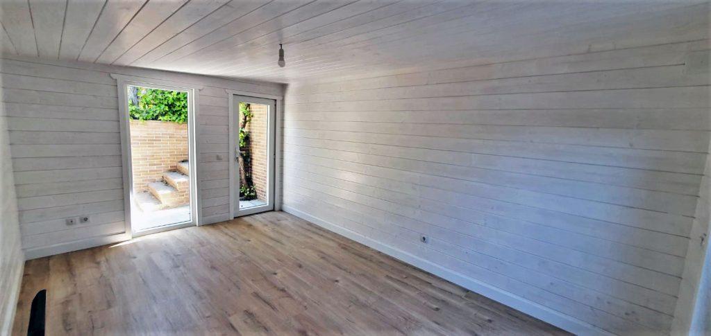 Un garaje de madera sostenible